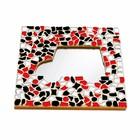 Cristallo Mozaiek pakket Spiegel Auto Rood-Zwart-Wit