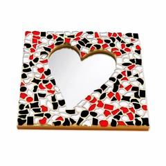 Cristallo Mozaiek pakket Spiegel Hart Rood-Zwart-Wit