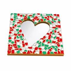 Cristallo Mozaiek pakket Spiegel Hart Kerst