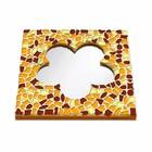 Cristallo Mozaiek pakket Spiegel Bloem Bruin-Oranje-Geel