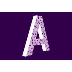 Cristallo Design Zacht, Letter A