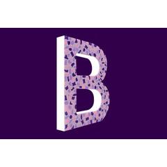 Cristallo Design Zacht, Letter B