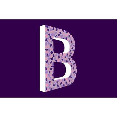 Cristallo Mozaiek pakket Letter B Zacht