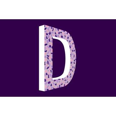 Cristallo Mozaiek pakket Letter D Zacht