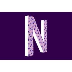 Cristallo Design Zacht, Letter N