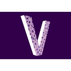 Cristallo Design Zacht, Letter V