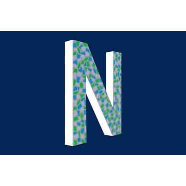 Cristallo Mozaiek pakket Letter N Fris