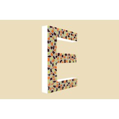 Cristallo Design Warm, Letter E