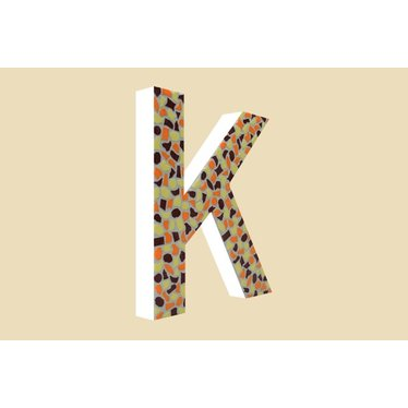Cristallo Mozaiek pakket Letter K Warm