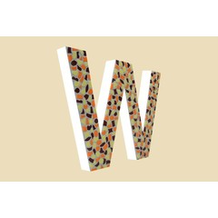 Cristallo Design Warm, Letter W
