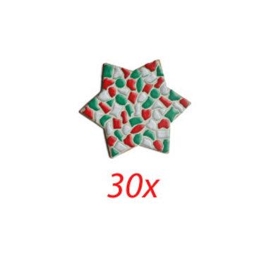 Cristallo STER 30 stuks Mozaiek pakket KERST