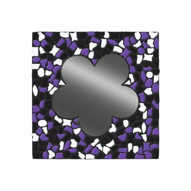 Cristallo Spiegel Bloem Zwart-Wit-Paars Mozaiek pakket PREMIUM