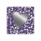 Cristallo Mozaiek pakket Spiegel Hart Wit-Paars-Violet PREMIUM