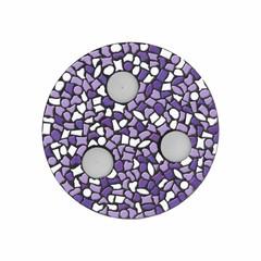 Cristallo Mozaiek pakket Waxinelichthouder Wit-Paars-Violet PREMIUM