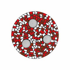Cristallo Mozaiek pakket Waxinelichthouder Wit-Rood-Bruin PREMIUM