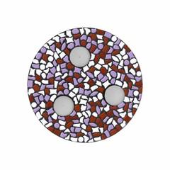 Cristallo Mozaiek pakket Waxinelichthouder Wit-Violet-Bruin PREMIUM