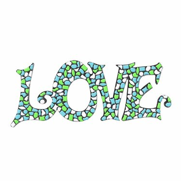 Cristallo LOVE Wit-Lichtgroen-Lichtblauw Mozaiek pakket PREMIUM