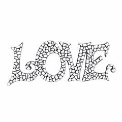 Cristallo Mozaiek pakket LOVE Wit Premium