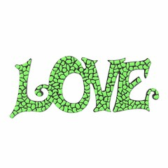Cristallo Mozaiek pakket LOVE Lichtgroen Premium