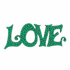 Cristallo Mozaiek pakket LOVE Donkergroen Premium