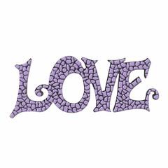 Cristallo Mozaiek pakket LOVE Violet Premium