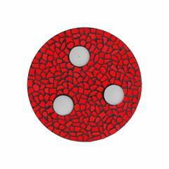 Cristallo Mozaiek pakket Waxinelichthouder Uni Rood PREMIUM