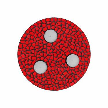 Cristallo Waxinelichthouder Uni Rood Mozaiek pakket PREMIUM