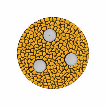 Cristallo Waxinelichthouder Uni Oranje Mozaiek pakket PREMIUM