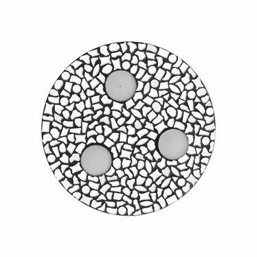 Cristallo Waxinelichthouder Uni Wit Mozaiek pakket PREMIUM