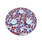Cristallo Mozaiek pakket Waxinelichthouder Rood-Wit-Paars