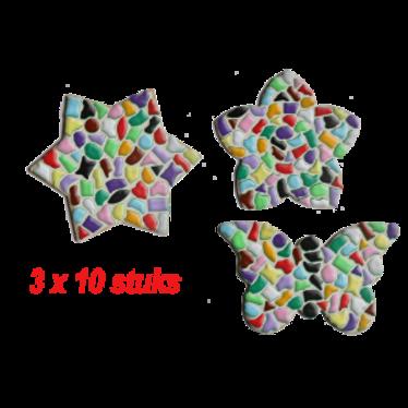 Cristallo BLOEM/STER/VLINDER 3x10 stuks Mozaiek pakket