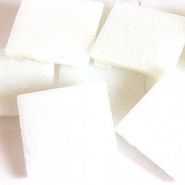 Cristallo Mozaieksteentjes 2 x 2 cm 75 stuks Wit