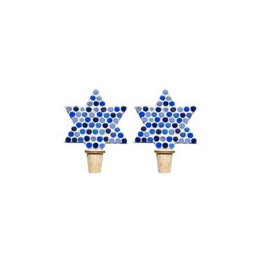 Flessenstop set/2 Ster Blauwtinten
