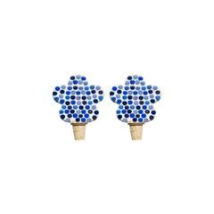 Flessenstop set/2 Bloem Blauwtinten