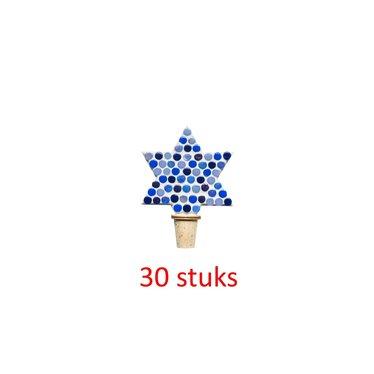 Flessenstop Ster Blauwtinten 30 stuks