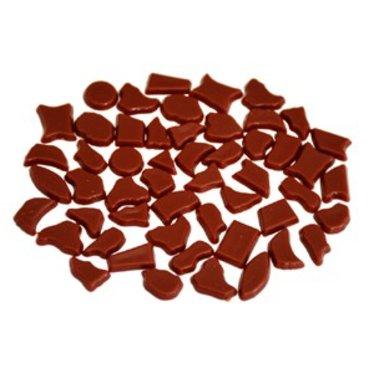 Cristallo Kunststof mozaieksteentjes ca. 500 gram BRUIN