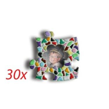 Cristallo Mini-fotolijstjes 30 stuks BLOEM Mozaiek pakket MIX