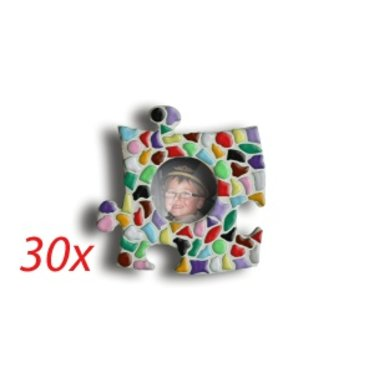 Cristallo Mini-fotolijstjes 30 stuks CIRKEL Mozaiek pakket MIX