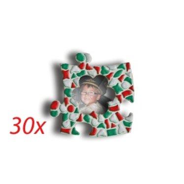 Cristallo Mini-fotolijstjes 30 stuks BLOEM Mozaiek pakket KERST