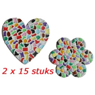 Cristallo HART/BLOEM 2x15 stuks Mozaiek pakket