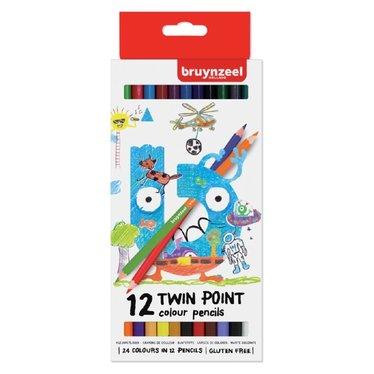 Kleurpotloden Bruynzeel Kids Twin Point 12 stuks