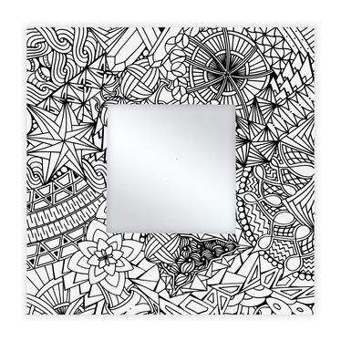 Spiegel Vierkant 35 x 35 cm Rollercoaster