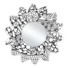Spiegel Zonnebloem diam. 33,5 cm Holymoly
