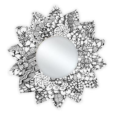 Spiegel Zonnebloem diam. 33,5 cm Floriade