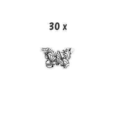 Schoolpakket 30 x Vlinder 4-6 jaar Triangle