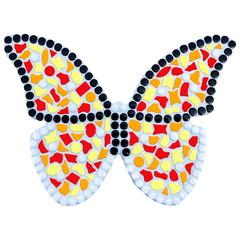 Cristallo Mozaiek pakket Vlinder Geel-Rood-Oranje