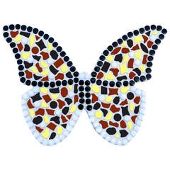 Cristallo Mozaiek pakket Vlinder Geel-Zwart-Bruin