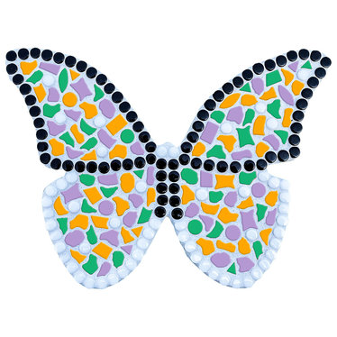 Cristallo Mozaiek pakket Vlinder Oranje-Violet-Donkergroen