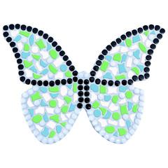 Cristallo Mozaiek pakket Vlinder Wit-Lichtgroen-Lichtblauw