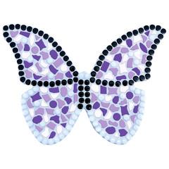 Cristallo Mozaiek pakket Vlinder Wit-Paars-Violet